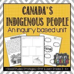 Canada's Indigenous People (First Nations, Aboriginal) - Inquiry Based Unit Aboriginal Education, Indigenous Education, Aboriginal Culture, Aboriginal People, Indigenous Art, Indigenous People Of Canada, Canadian History, Native Canadian, Canadian Art