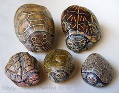 Painting Rock & Stone Animals, Nativity Sets & More: Rock Painting Ideas: Slimy Critters Painted on Rocks