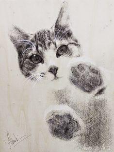 gatos dibujos a lapiz - Buscar con Google