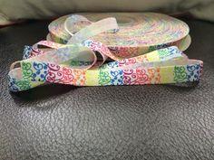 5/8  FOE Fold Over Elastic  Rainbow Swirl by BellaandKateDesigns