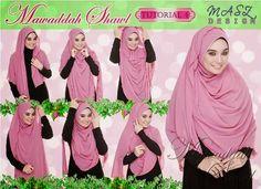 Shawl Labuh Halfmoon Mawaddah Cantik Limited Edition | TUDUNG LABUH ONLINE