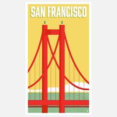 San Francisco Print 16x24 by Pilot & Captain