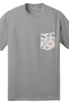Iconic Pocket Tee (Gray) Tyler Oakley merch youtube