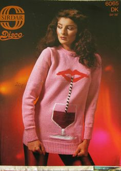 Vintage Disco jumper knitting pattern by Sirdar - 1970s