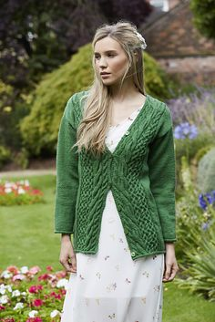 Ravelry: Saxon Cardigan pattern by Anni Howard Work Flats, Classic Fairy Tales, Knitting Charts, Cardigan Pattern, Knit Crochet, Crochet Sweaters, Knit Dress, Ravelry, Pullover