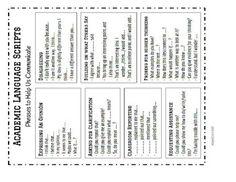 Academic Language Scripts by Crutchfield's Class Spanish 101, Learning English, Scripts, Esl, Classroom Ideas, Language, Student, Teaching, Classroom Setup