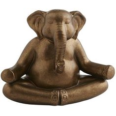 Need help remembering to take a moment and just breathe? Our yoga-practicing pachyderm, crafted from terracotta and hand-painted in a gold glaze, will help jog your memory. And make you smile – which is sometimes all you need to relax.