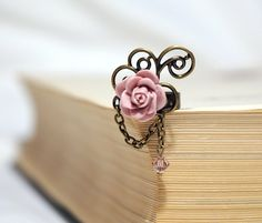 Dusty Rose Cabochon Ring by Myvera on Etsy,