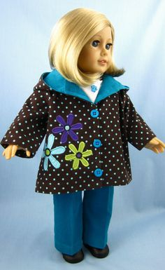 American Girl Doll Clothes  Hooded Jacket in by SewMyGoodnessShop, $32.00