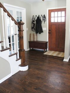 Hardwood floor refinishing is an affordable way to spruce up your space without a full replacement. Learn if refinishing hardwood floors is for you. Floor Stain Colors, Hardwood Floor Colors, Paint Colors, Room Colors, Home Renovation, Home Remodeling, Refinishing Hardwood Floors, Floor Refinishing, Wood Flooring