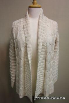 Talbots cardigan, PETITE Cream acrylic/wool Blend $18.00