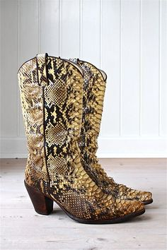 snakeskin boots a sign of my individuality