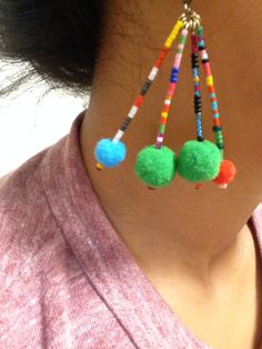 beads piaced earring