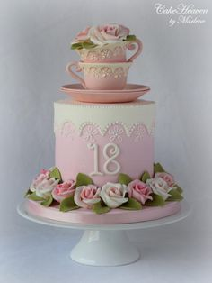 18th Birthday Cake by CakeHeaven by Marlene
