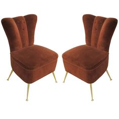 Single/Pair of 1950s Italian Slipper Chairs
