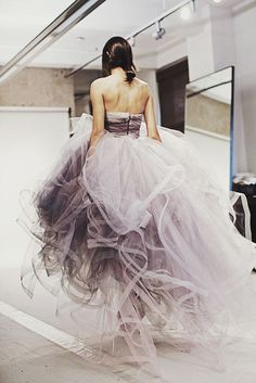 lavender dress.