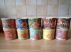 Súprava 6 šálok   2dcl by keramikagresko - SAShE.sk - Handmade Keramika
