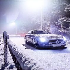 We see your Polar Vortex and raise you a German hotrod. Photo by @phillipprupprecht #vortexschmortex #SLS #AMG #GT #supercar #instacar