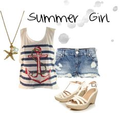 """Summer Girl"" by artsyrose ❤ liked on Polyvore"