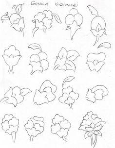 gonca cizimleri tezhip Islamic Art Pattern, Arabic Pattern, Pattern Art, Arabic Calligraphy Art, Arabic Art, Amazing Drawings, Art Drawings, Hand Embroidery Designs, Embroidery Patterns