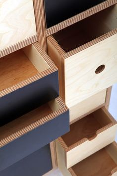 Aug 2019 - Play Play Pattern is is a modular storage concept made from Birch Plywood finished in natural oil and is the result of a design . Plywood Furniture, Industrial Furniture, Furniture Plans, Furniture Makeover, Vintage Furniture, Cool Furniture, Furniture Design, Modular Furniture, Furniture Stores
