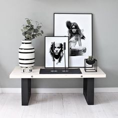 Black & White Decoration Inspo by @peopleoftomorrow_ #blacknwhite_perfection #deco #inspo #frames