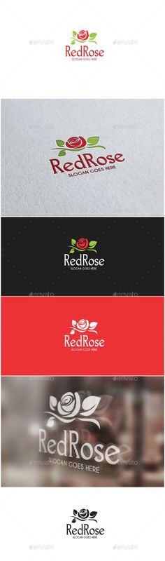 Red Rose - Logo Design Template Vector #logotype Download it here: http://graphicriver.net/item/red-rose-logo/13070962?s_rank=449?ref=nexion