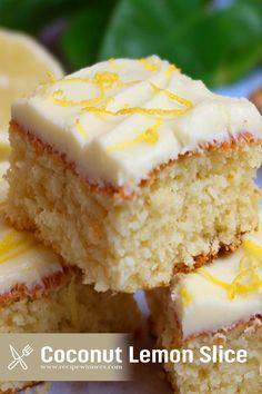 Lemon Dessert Recipes, Apple Cake Recipes, Fun Baking Recipes, Coconut Recipes, Easy Cake Recipes, Sweet Recipes, Lemon Recipes Thermomix, Recipes With Lemon, Apricot Recipes