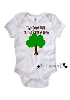 Funny Baby Onesie - now to find a tree to embroider!!