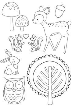 woodland creatures embroidery patterns Cathy, for you. Also do you want. The leftover woodland papers?