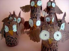 Baby owl toilet paper rolls