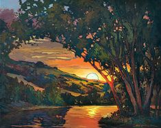 Blush Of Sunset - Giclee Fine Art PRINT of Original Painting matted 16x20 by Jan Schmuckal