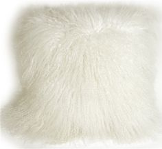 Pillow Decor throw pillow and sofa cushion collection includes Mongolian Sheepskin Snow White Throw Pillow White Throws, White Throw Pillows, Throw Pillow Sets, Decorative Throw Pillows, White Leather Sofas, Contemporary Pillows, Sheepskin Throw, Pastel Mint, Cushions On Sofa