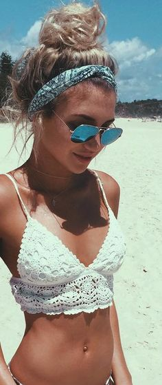 Blue sunglasses (Boho Top Knot)