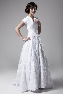 Violet Modest Wedding Dress