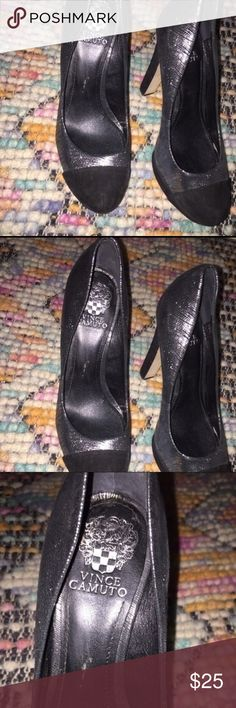 Vince Camuto Suede black and silver platforms Vince Camuto Black and Silver Jorgie platform. Vince Camuto Shoes Heels