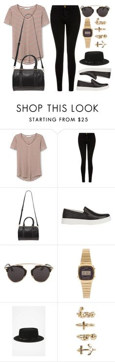 """Style #9940"" by vany-alvarado ❤ liked on Polyvore featuring MANGO, Current/Elliott, Forever 21, Prada Sport, Christian Dior, Casio, Deena & Ozzy and NLY Trend"