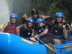 happy rafting in Costa Rica