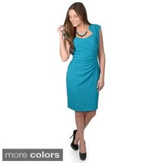 Shop for Calvin Klein Women's Cap Sleeve Ruched Sheath Dress. Get free delivery at Overstock.com - Your Online Women's Clothing Destination! Get 5% in rewards with Club O!