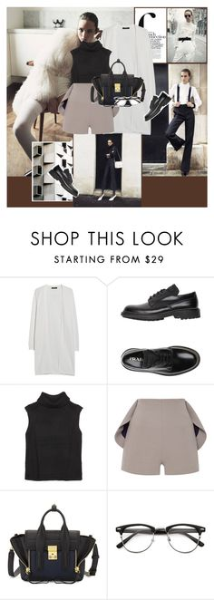 """"""".."""" by margarita-m-a ❤ liked on Polyvore featuring French Connection, MANGO, Prada, Helmut Lang, Natasha Zinko and 3.1 Phillip Lim"""