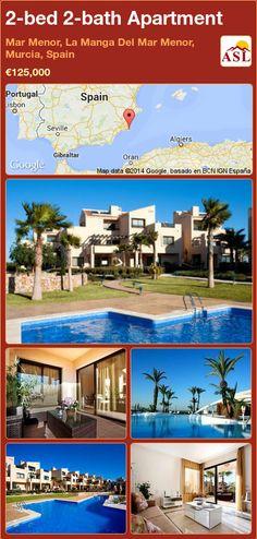 2-bed 2-bath Apartment in Mar Menor, La Manga Del Mar Menor, Murcia, Spain ►€125,000 #PropertyForSaleInSpain
