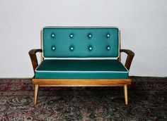 We love this little 1960's sofa! What are you working on? We'd love to see!  #Vintage #furniture #TBT