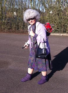 Gangsta granny costume for world book day fancydress worldbookday gangsta granny dress up for world book day the kids loved it solutioingenieria Images
