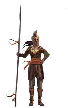 A Haradrim warrior-woman Royal guard