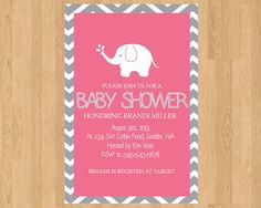 Baby shower invitation - needs to be yellow and it would be perfect