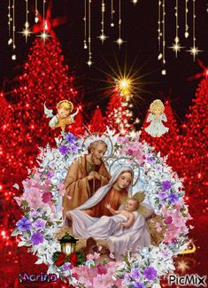 Merry Christmas Gif, God Bless You, Blessed, Thankful, Painting, Beautiful, Pictures Of Jesus, Painting Art, Paintings