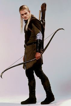 Legolas (Orlando Bloom) 'The Lord of the Rings' 2001-03. Costume designed by Ngila Dickson.