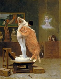 FatCatArt – Great Artists' Mews » My Fair Cat Lady