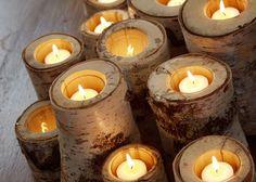 Birch candles...LOVE