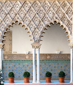 Create a patio in your living room by projecting it on your walls! #Inspiration #Decoration everywhere Moorish